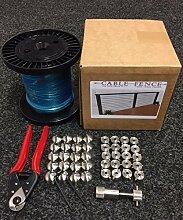 Edelstahl 6m Länge Kabel Zaunsystem Kit (10läuft)