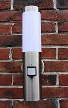 Edelstahl Außenlampe mit LED 7 Watt Außenleuchte Hoflampe IR Bewegungsmelder