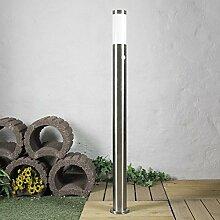 Edelstahl Außenleuchte Sockellampe 110cm mit Bewegungsmelder Sensor Wegleuchte Wegelampe 230V Außen Hof Garten