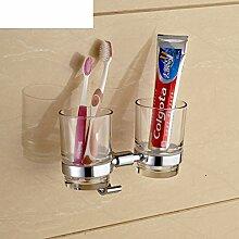 Edelstahl Bad-Accessoires/Dual-Tasse Zahnbürste Becherhalter/Hooked