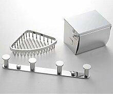 Edelstahl-Bad-Accessoires set/Haken Gig Wasser verschlossenen WC-Papierhalter