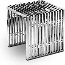 Edelstahl Bauhaus Hocker Länge 40 x Tiefe 40 cm x Höhe 42 cm / 15 kg. Mit Acryl Distanzstücken. Sehr Edel! Passende Sitzbank, Couchtisch und Sideboard lieferbar.