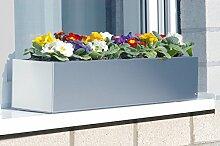 Edelstahl-Blumenkasten 100 cm - (519 C)