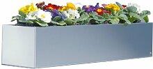 Edelstahl-Blumenkasten 80 cm - (519 B)