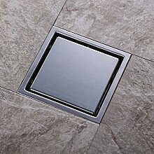Edelstahl Bodenablauf, 150mm x 150 mm verchromt