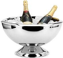 Edelstahl Champagnerkühler H 23,5 cm x D 43 cm