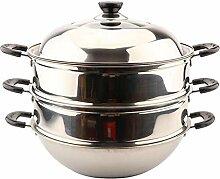 Edelstahl Dampfgarer Food Steamer Pan/Induktion