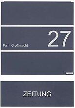 Edelstahl Design Briefkasten KÄSTNER mit