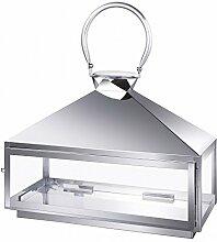 Edelstahl Design Laterne CCD-9628 Größe L Glas Metall Windlicht Gartenlaterne