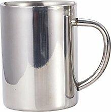 Edelstahl Doppel Becher Becher Cup Office Cup