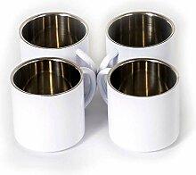 Edelstahl doppelwandig Espressobecher XL 4er-Set