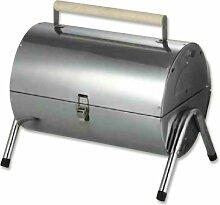 Edelstahl-Fassgrill Grillfass Smoker BBQ Grilltonne