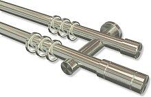 Edelstahl-Gardinenstange V2A zweiläufig 20 mm