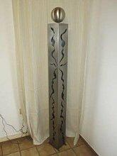 Edelstahl Gartendeko 150cm mit Rissenmuster und