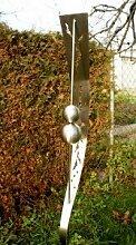 Edelstahl Gartenstecker Gartendeko Edelstahlkugeln*