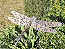 Edelstahl Gartenstecker Libelle, 150 cm