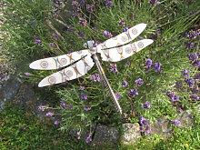 Edelstahl Gartenstecker Libelle, 75 cm