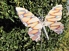 Edelstahl Gartenstecker Schmetterling, 75 cm