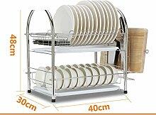 Edelstahl geschirrablage Küche lagerregale Tassenhalter Gericht racks-C