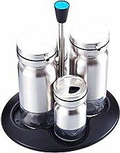 Edelstahl Gewürzglas Pfeffer Öl Salz und Salz