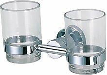 Edelstahl-Glas/ Zahnbürste Box/ Tumbler Zahnbürstenhalter/Doppel - Cup./Becher