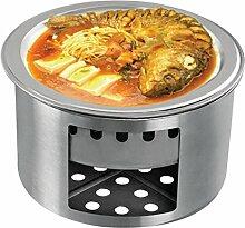 Edelstahl-Grill-Sets Holzkohlegrill,B