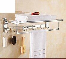 Edelstahl Handtuchhalter/Badezimmerzahnstangen/Der Raum gefaltet Handtuchhalter/Bad-Accessoires Paket -B