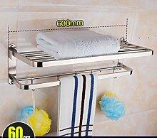 Edelstahl Handtuchhalter/ Falten Handtuchhalter/Badezimmerzahnstangen/Bad-Accessoires Paket -C