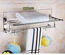 Edelstahl Handtuchhalter/ Falten Handtuchhalter/Badezimmerzahnstangen/Bad-Accessoires/Bad-Accessoires-B