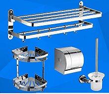 Edelstahl Handtuchhalter/ Falten Handtuchhalter/Racks/Bad Bad-Accessoires set-I