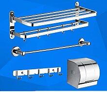 Edelstahl Handtuchhalter/ Falten Handtuchhalter/Racks/Bad Bad-Accessoires set-D
