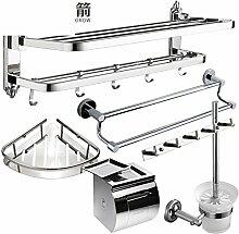 Edelstahl Handtuchhalter/Tuch/Badezimmerzahnstangen/Bad-Accessoires Paket -I