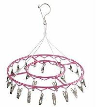edelstahl - hanger multifunktionale kleidung, unterwäsche und socken kleiderbügel,rose red