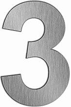Edelstahl Hausnummer im XXL DESIGN Straight (20