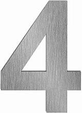 Edelstahl Hausnummer im XXL DESIGN Straight (50