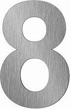 Edelstahl Hausnummer im XXL DESIGN Straight (60