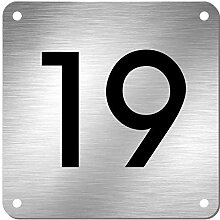 Edelstahl Hausnummer mit individueller