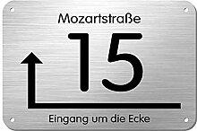 Edelstahl Hausnummer Namensschild Hinweisschild