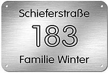 Edelstahl Hausnummer Türschild Namensschild mit