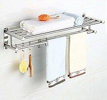 Edelstahl Hotel Badezimmer Handtuchhalter Handtuchhalter Bad WC Handtuchhalter Regal , A , 40cm
