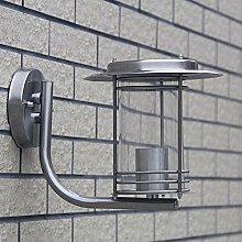 Edelstahl IP44 Aussenlampe 1 * E27 Innen / Außen