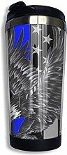 Edelstahl-Kaffeetasse Blue Thin Line Eagle