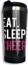 Edelstahl-Kaffeetasse Eat Sleep Cheer Insulated