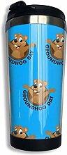 Edelstahl-Kaffeetasse Happy Groundhog Day