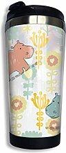 Edelstahl-Kaffeetasse Hippo Flowers Insulated
