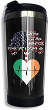 Edelstahl Kaffeetasse Irland US Root Heartbeat
