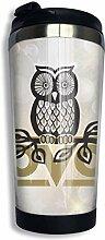 Edelstahl-Kaffeetasse OVO Owl Insulated Travel Car