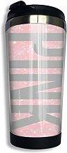 Edelstahl-Kaffeetasse Pink Insulated Travel Car
