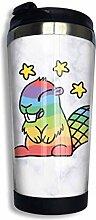 Edelstahl-Kaffeetasse Rainbow Beaver Insulated