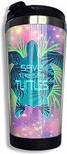 Edelstahl-Kaffeetasse Save The Sea Turtle